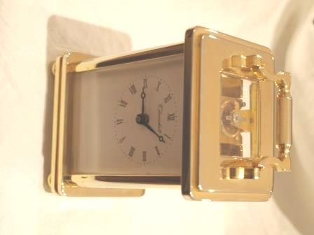 Top and front view of 'Churchill' carriage clock